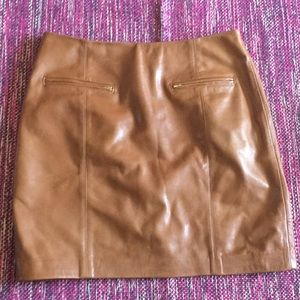 Ann Taylor leather pencil skirt